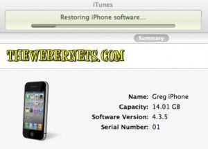 Restoring iPhone Window