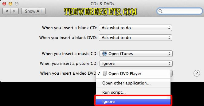 Stop DVD Player from starting automatically | The Webernets