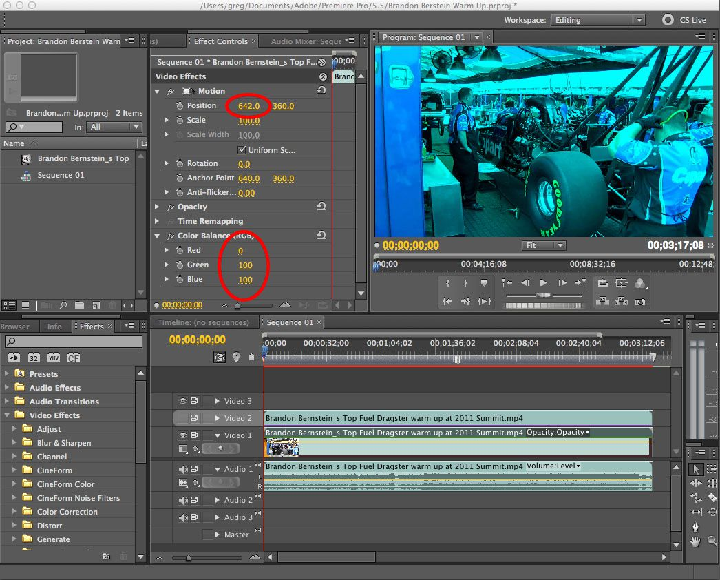 Convert 2D video to Anaglyph 3D using Adobe Premiere Pro