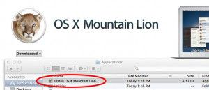 mountain lion installer in applications folder