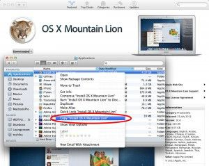 save your mountain lion install file