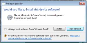 voicemeeter-driver-install