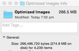 default optimized file size