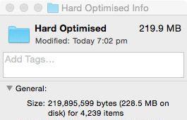 Hard Optimized Finder Size
