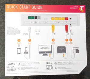 Telstra Gateway Max 2 Quick Start Card Rear